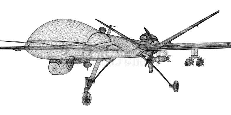 无人空中车(UAV) 库存例证