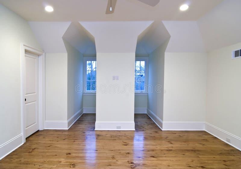 无供给的卧室在楼上 库存图片