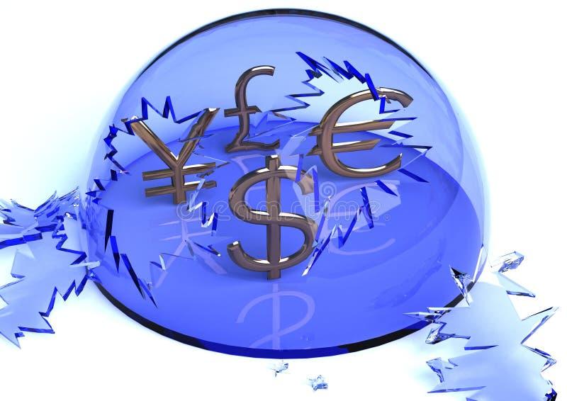 无保护的货币 免版税库存照片
