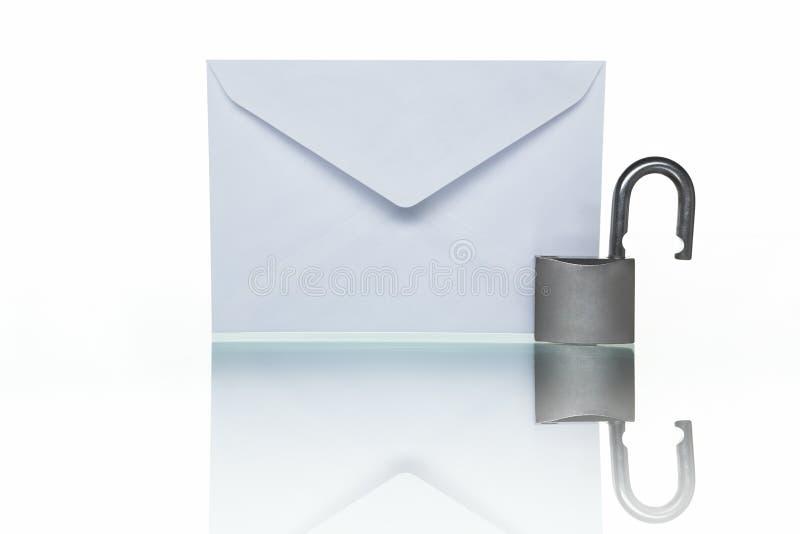 无保护的邮件 免版税库存图片