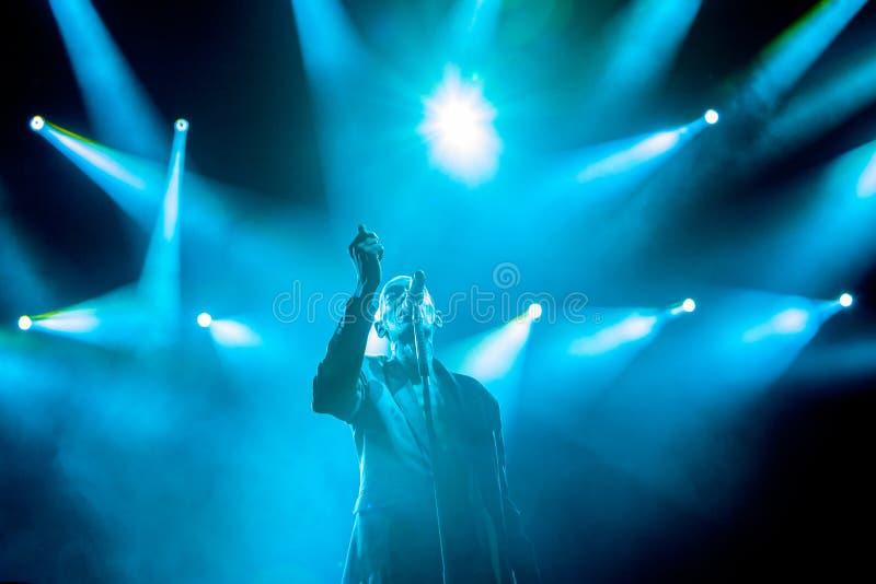 无信仰在主要阶段在出口2015年音乐节 免版税库存照片