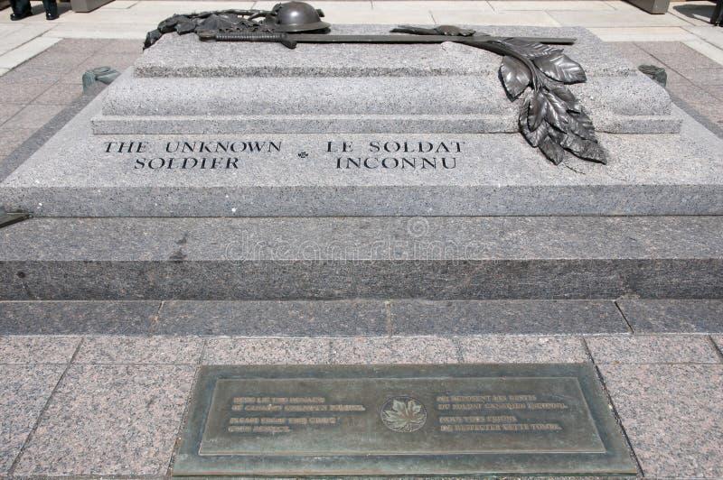 无名战士坟墓-渥太华-加拿大 免版税库存图片