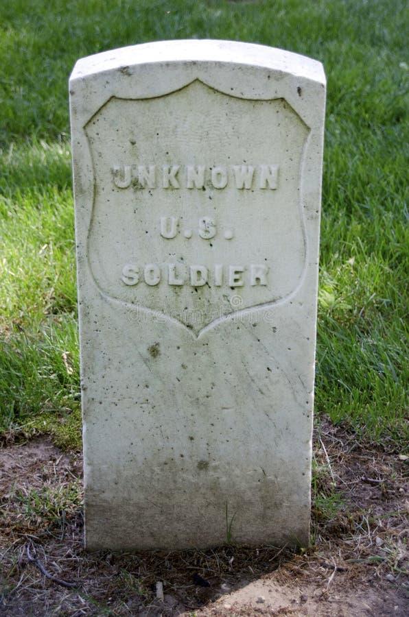 无名战士坟墓 库存照片