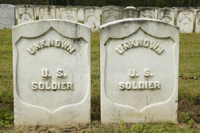 无名英雄墓、国家公园Andersonville或阵营Sumter,南北战争监狱和公墓 库存照片