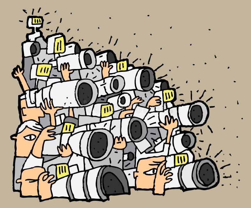 无固定职业的摄影师动画片No.1 皇族释放例证
