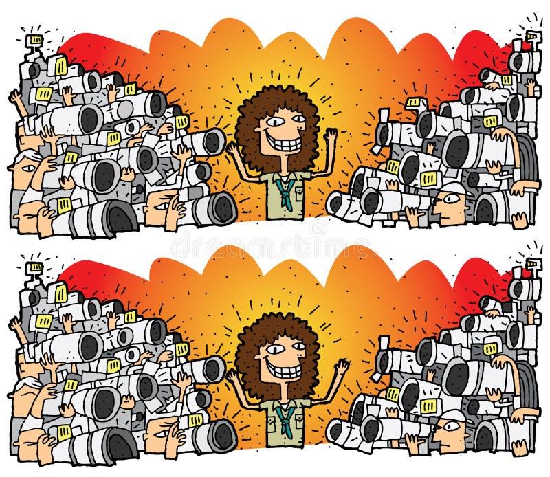 无固定职业的摄影师区别视觉比赛 皇族释放例证