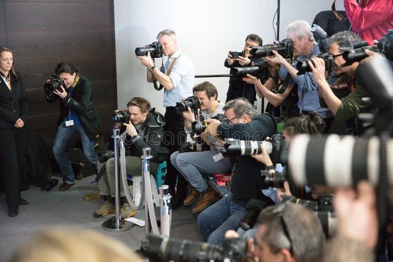 无固定职业的摄影师在工作 免版税库存图片