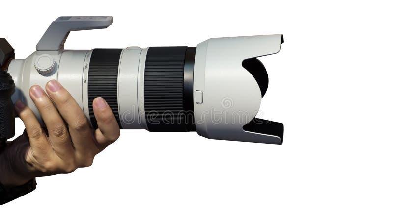 无固定职业的摄影师手 免版税库存图片