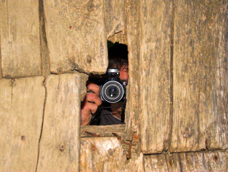 无固定职业的摄影师 库存照片