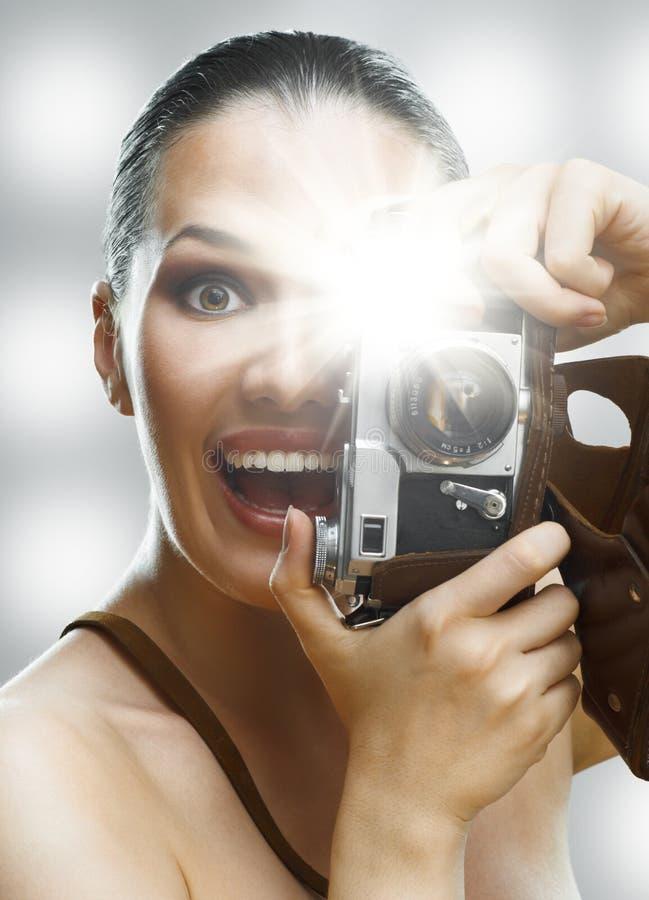 无固定职业的摄影师 免版税库存照片