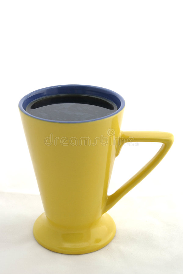 无奶咖啡杯子三角黄色 图库摄影