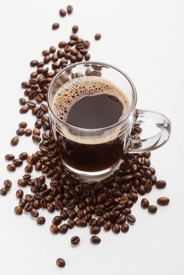 无奶咖啡的垂直的射击 免版税库存照片