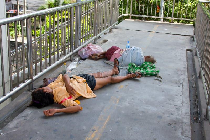 无家可归的人泰国 库存图片