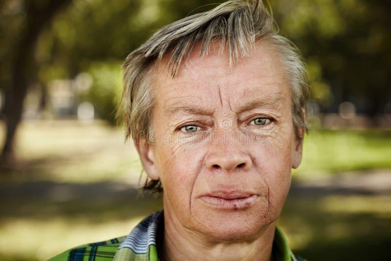 无家可归的妇女 免版税库存照片