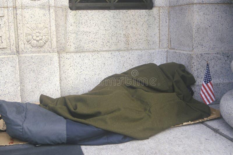 无家可归的就职天在华盛顿, D C 免版税库存照片