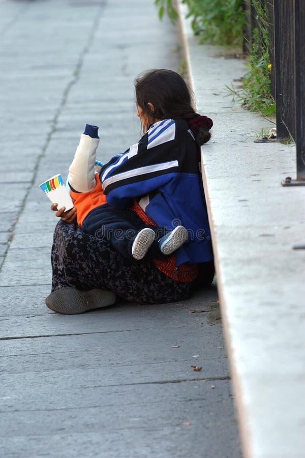 无家可归的v 库存照片