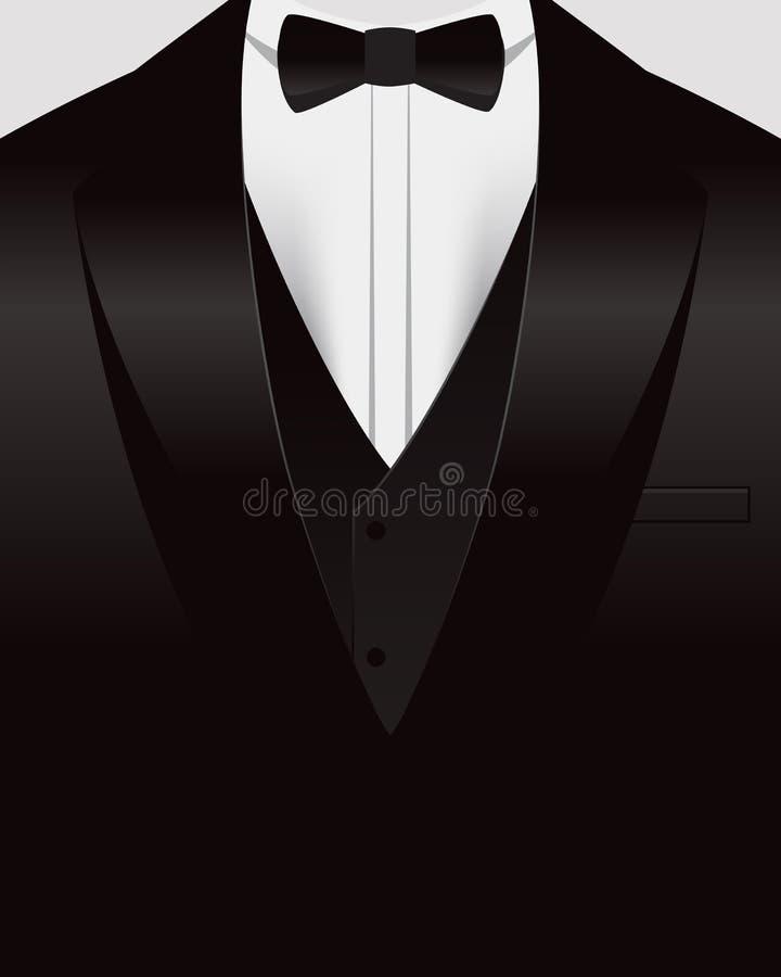 无尾礼服背景 向量例证