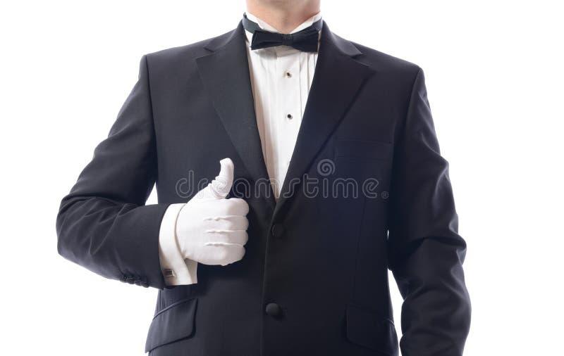 无尾礼服赞许 图库摄影