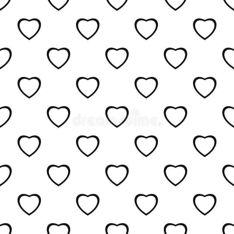 无所畏惧的心脏样式无缝的传染媒介 向量例证