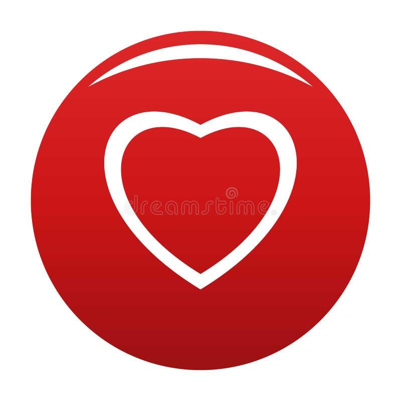 无所畏惧的心脏象传染媒介红色 皇族释放例证