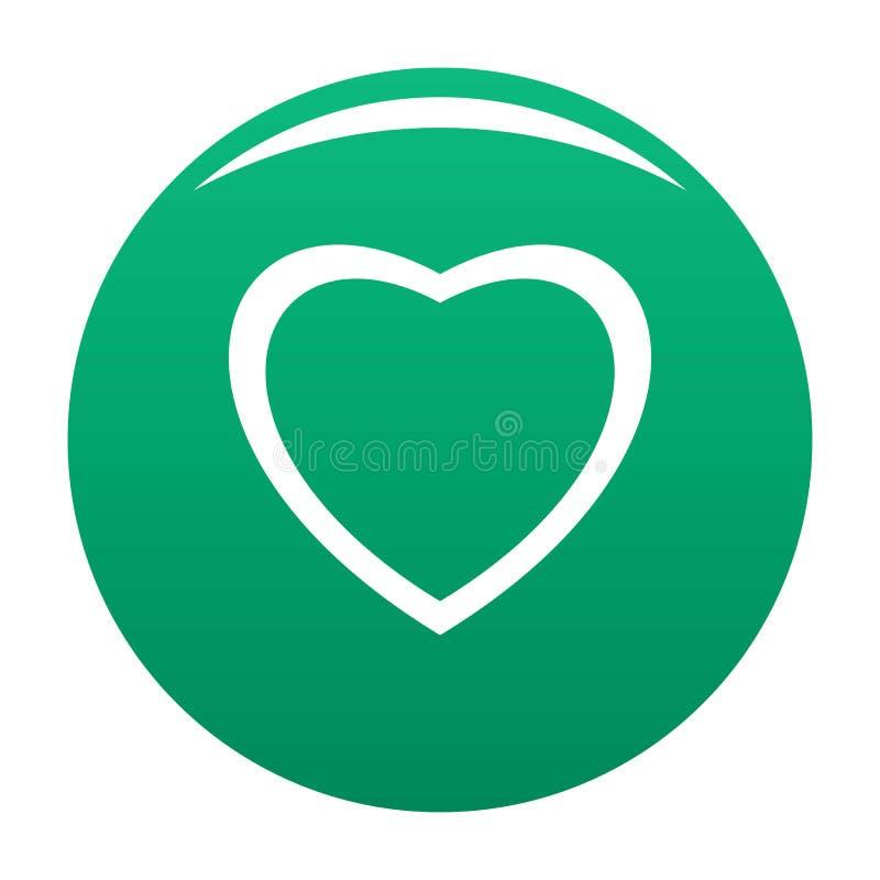 无所畏惧的心脏象传染媒介绿色 向量例证
