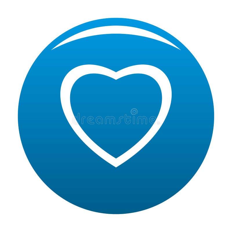 无所畏惧的心脏象蓝色 向量例证