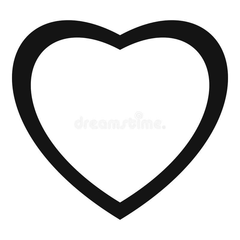 无所畏惧的心脏象,简单的样式 向量例证