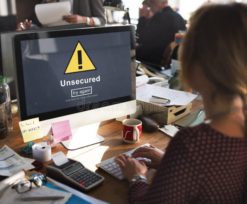 无担保的保护保密性机要抗病毒概念 免版税图库摄影