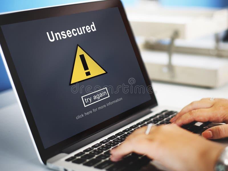 无担保的保护保密性机要抗病毒概念 库存照片