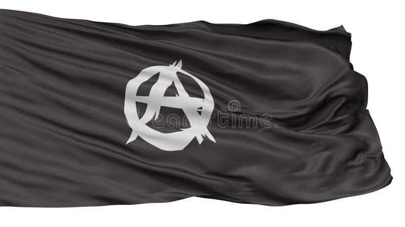 无政府主义者运动旗子,隔绝在白色 皇族释放例证