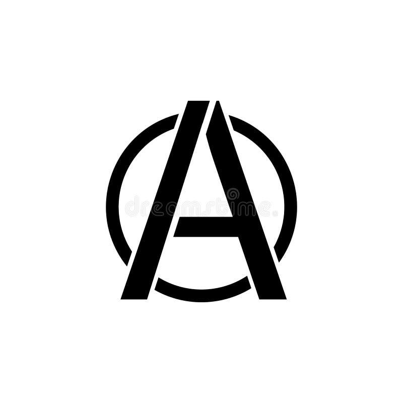 无政府状态象的标志 共产主义例证的元素 优质质量图形设计象 标志和标志汇集象 皇族释放例证