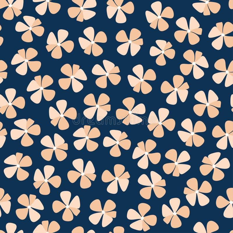无权大胆的花卉图案传染媒介 向量例证