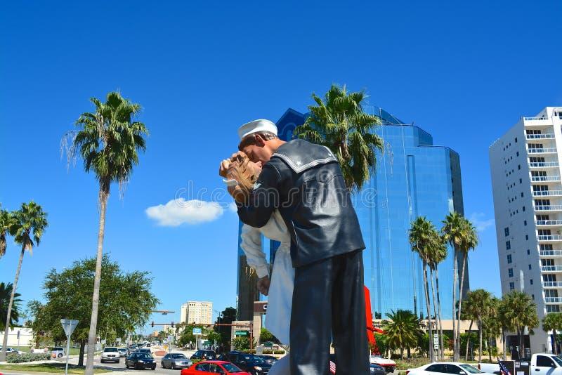 无条件投降,萨拉索塔,佛罗里达,美国 图库摄影