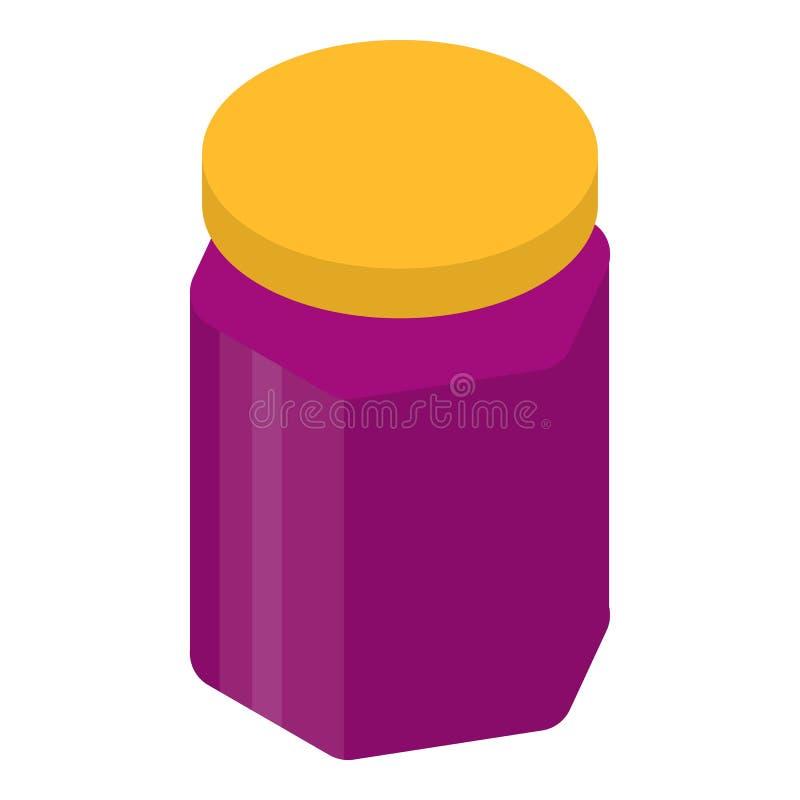 无核小葡萄干果酱罐头象,等量样式 皇族释放例证