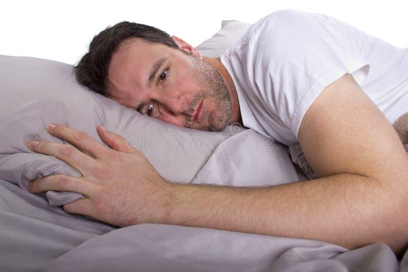 无法睡觉 库存照片