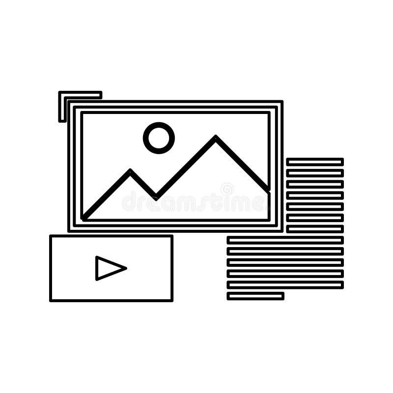 无特定结构的数据象 网络安全的元素流动概念和网应用程序象的 网站设计的稀薄的线象和 皇族释放例证