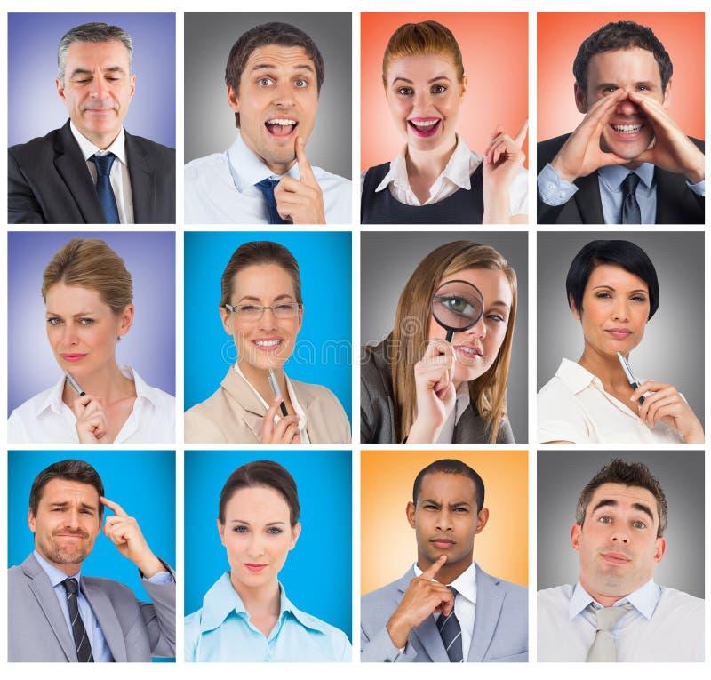 无知的办公室工作者pos的综合图象的综合图象 免版税图库摄影
