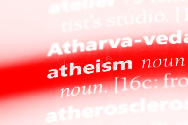 无神论 库存图片