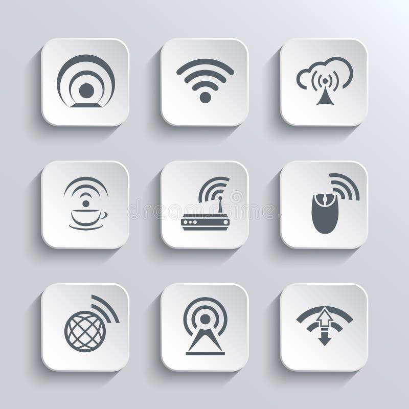 无线和Wi-Fi被设置的网象 向量例证
