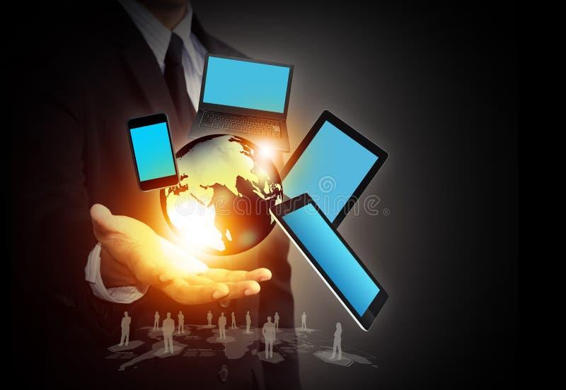 无线技术和社会媒介网络 免版税库存照片