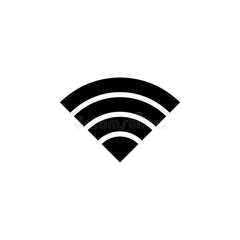 无线电信号象 minimalistic象的元素流动概念和网apps的 标志和标志汇集象网站的, w 库存例证