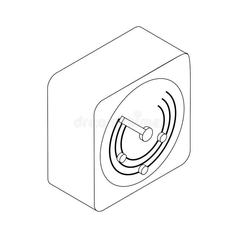 无线电地点象,等量3d样式 向量例证