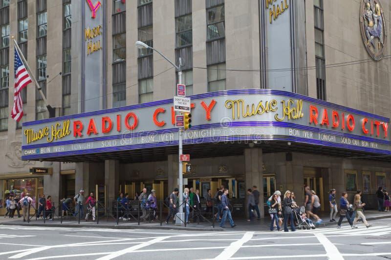 无线电城市音乐厅在纽约城 库存图片