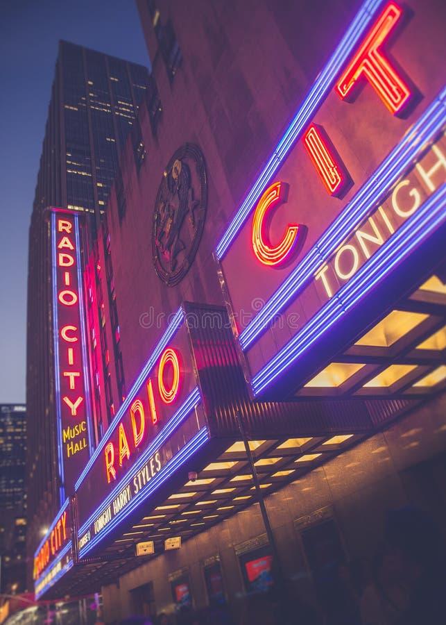 无线电城音乐厅NYC 免版税库存照片