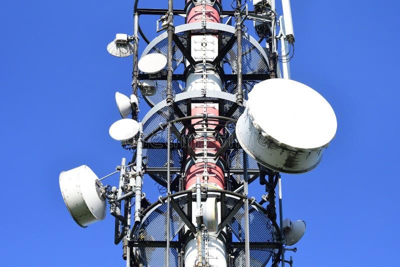 无线电帆柱的细节 免版税库存照片