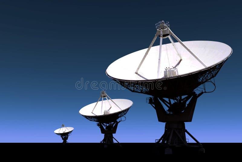 无线电望远镜技术 图库摄影