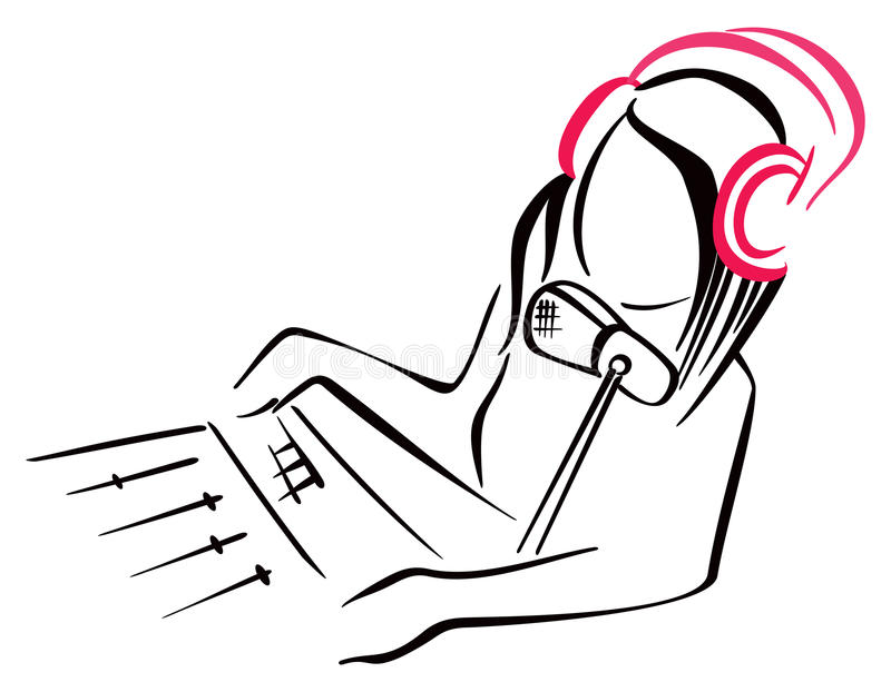 无线电标志 向量例证