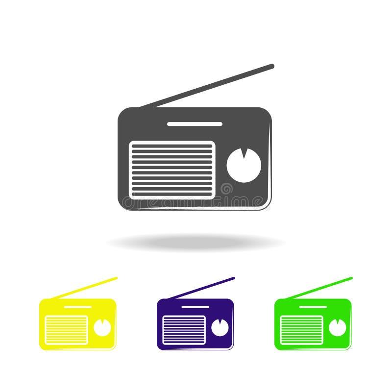 无线电球员多彩多姿的象 音乐象的元素 标志和标志汇集象网站的,网络设计,流动应用程序,UI 皇族释放例证