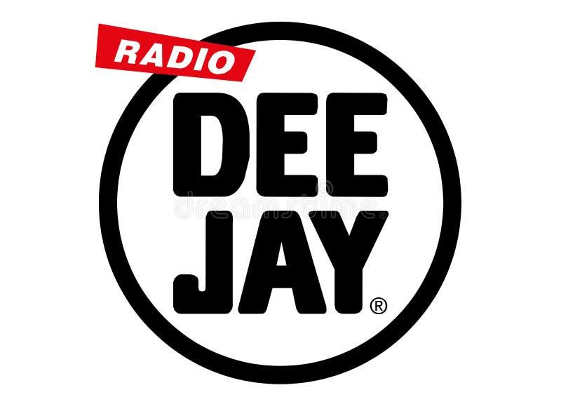 无线电节目播音员商标 皇族释放例证