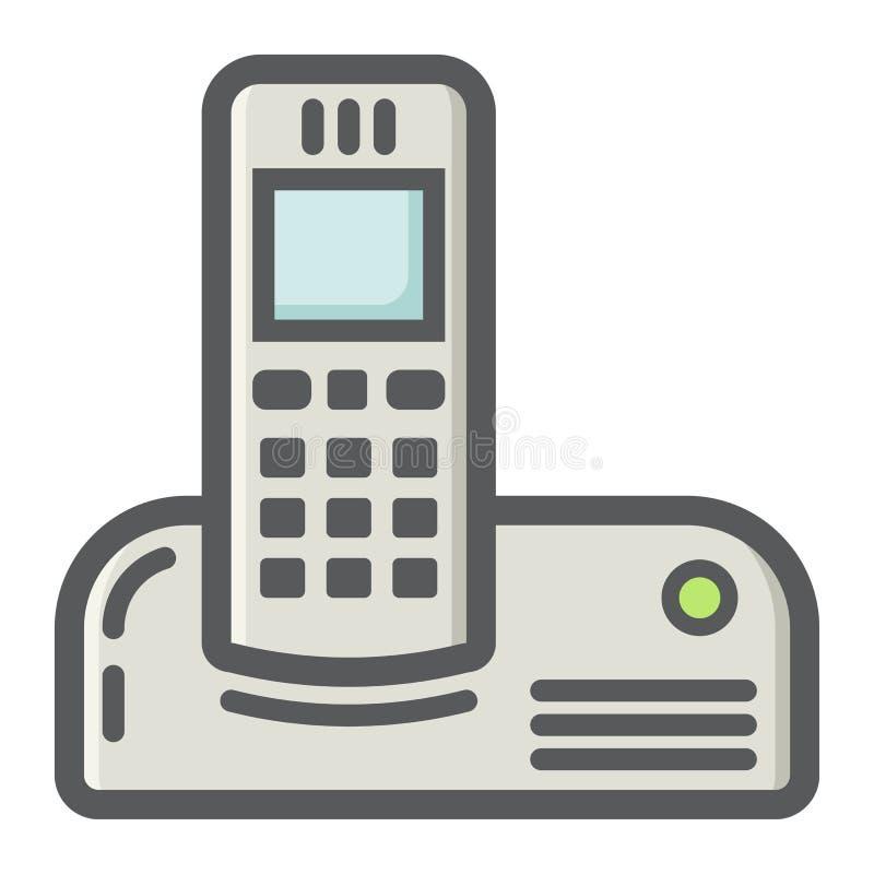无线电话五颜六色的线象,家庭 皇族释放例证